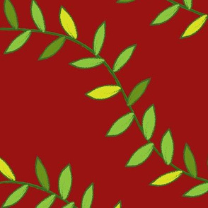 Jungle Vines for Monkey! (dark red)