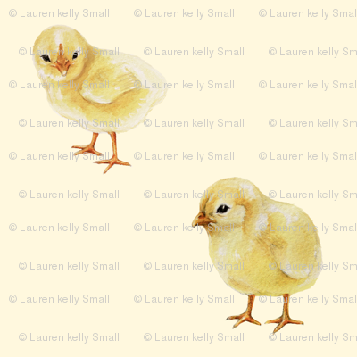 Baby Chicks on Cream, Easter Spring