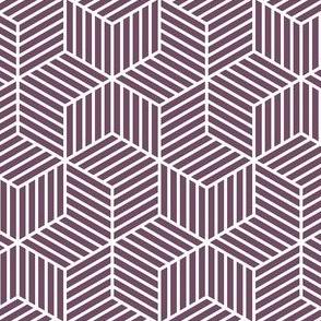 04954963 : chevron 6 bars : purple grape aubergine
