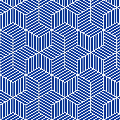 04954965 : chevron 6 bars : navy blue fabric by sef on Spoonflower - custom fabric