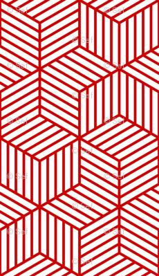 04954966 : chevron 6 bars : red outline