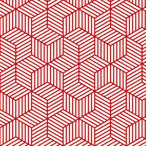 04954966 : chevron 6 bars : red outline fabric by sef on Spoonflower - custom fabric