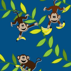 Monkey, monkey (blue)