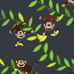 Monkey, monkey (dark grey)