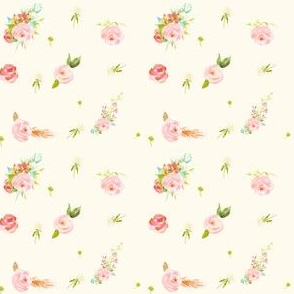 Mini Sweet Florals Ivory Color