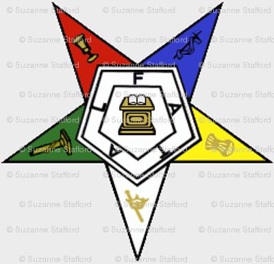 "Large 1.7"" Grey Eastern Star Standard Symbol"