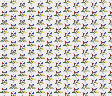 "Large 1.7"" Grey Eastern Star Standard Symbol fabric by elemental-design on Spoonflower - custom fabric"