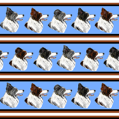 Border Collie Stripe fabric by eclectic_house on Spoonflower - custom fabric