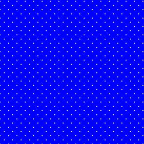 Royal Blue and White Mini Polka Dots
