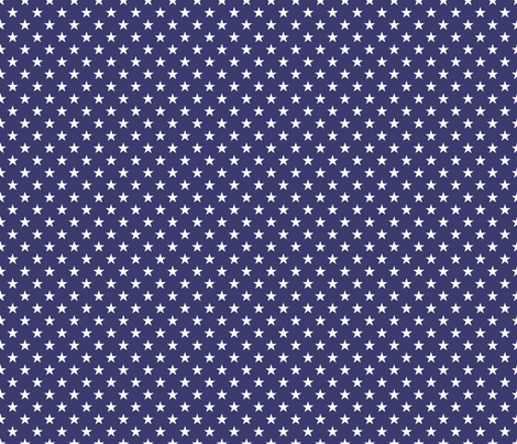 USA Flag White Stars on Blue fabric by paper_and_frill on Spoonflower - custom fabric