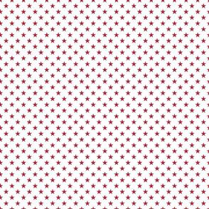USA Flag Red Stars on White