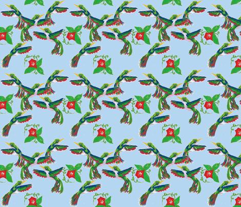 Fourth of July Hummingbirds fabric by fentonslee on Spoonflower - custom fabric