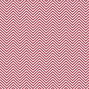 USA Flag Red and White Wavy ZigZag Chevron Stripes