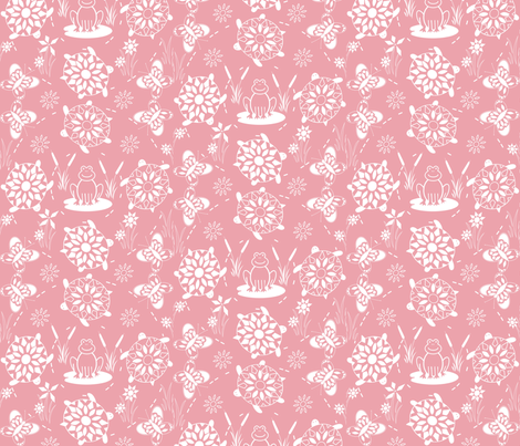 turtle-race-in-pink fabric by lonna_jordan on Spoonflower - custom fabric