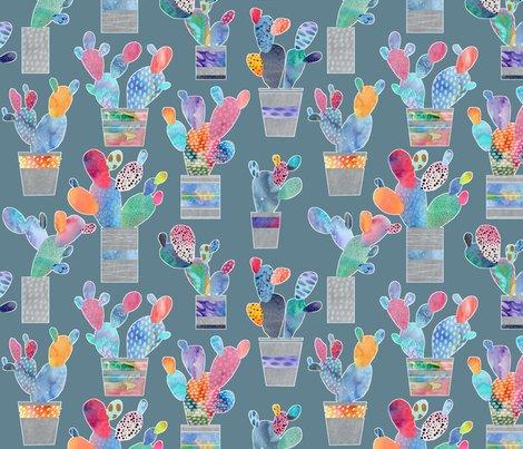Watercolour_cacti_-_steel_blue_shop_preview