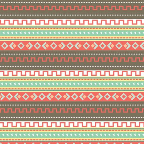Multi Abstract Tribal Print fabric by hudsondesigncompany on Spoonflower - custom fabric