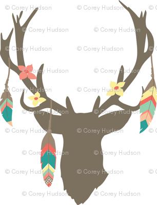 Feathered Deer Antlers