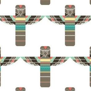 Colorful Totem Pole