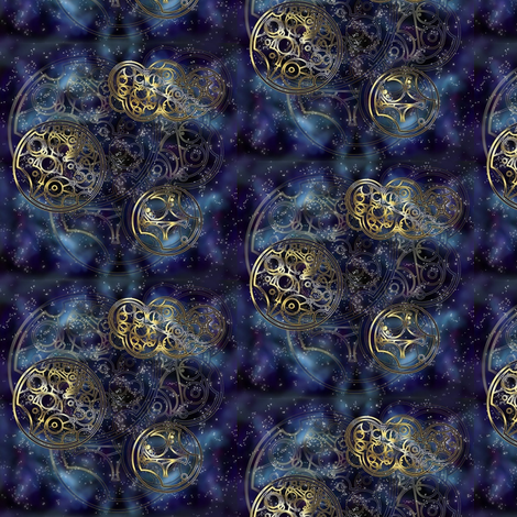 Galaxy of the Time Lord fabric by nerdfabrics on Spoonflower - custom fabric