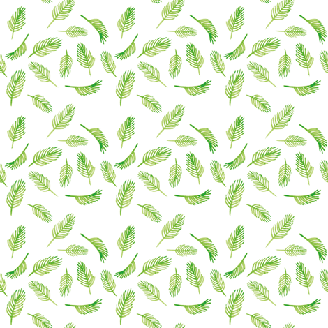 pine leaves fabric by ruth_robson on Spoonflower - custom fabric