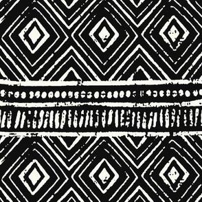 Mud Cloth // Ivory & Black // Small