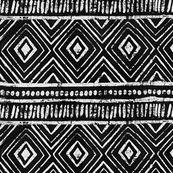 Black Mudcloth Tribal Print