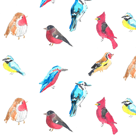 birds fabric by erinanne on Spoonflower - custom fabric