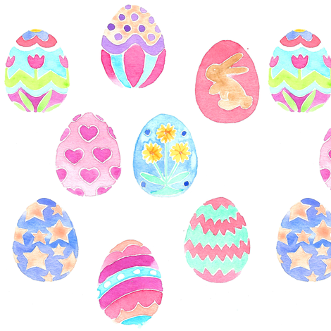 easter eggs decorative  fabric by erinanne on Spoonflower - custom fabric
