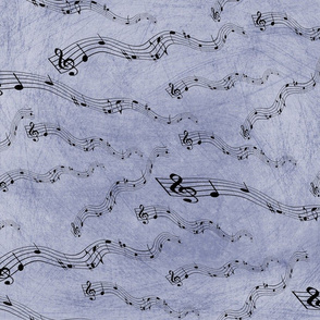 Musical Notes Purple