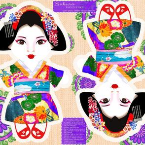 Sakura Cut N Sew Doll