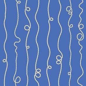 Nautical Ropes on blue