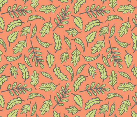 Nature Hunt - Leaves fabric by jaymehennel on Spoonflower - custom fabric