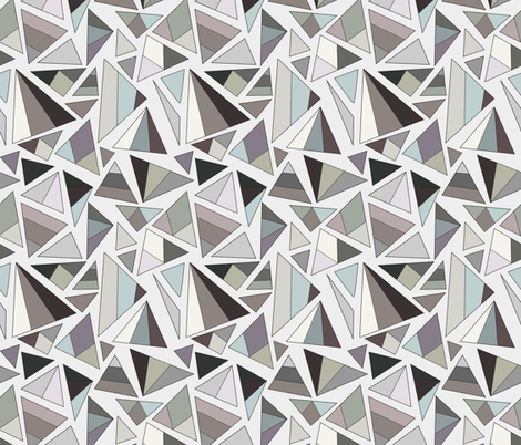 triangles in browns and greys fabric by eleventy-five on Spoonflower - custom fabric