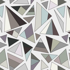 triangles in browns and greys