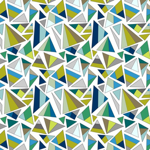 triangles in cool tones