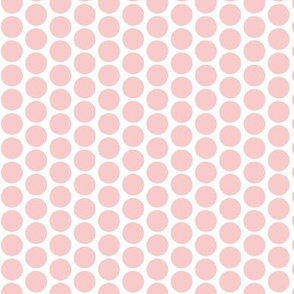 Rose polka dots on white, small, (limited palette) by Su_G