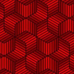 04958026 : chevron 6 bars : blood red