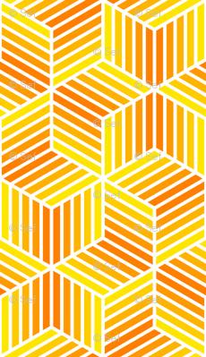 04958027 : chevron 6 bars : yellow to orange