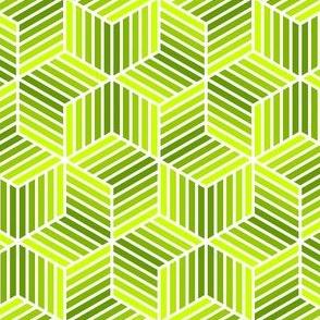chevron 6 bars : chartreuse lime
