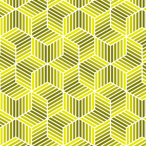 04958037 : chevron 6 bars : acid-yellow olive fabric by sef on Spoonflower - custom fabric