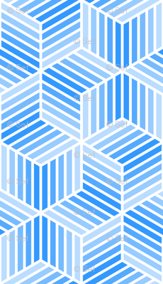 04958043 : chevron 6 bars : azure blue