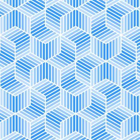 04958043 : chevron 6 bars : azure blue fabric by sef on Spoonflower - custom fabric