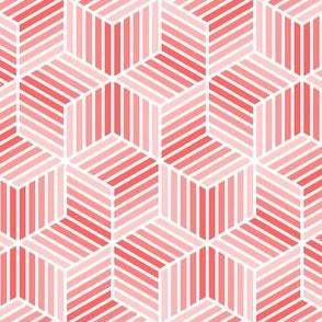 04958056 : chevron 6 bars : light red
