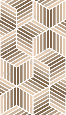 04958058 : chevron 6 bars : beige brown