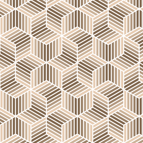 04958058 : chevron 6 bars : beige brown fabric by sef on Spoonflower - custom fabric