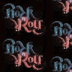 Rock 'N' Roll Ambigram - Pink/Blue