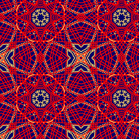 Cheerful Roundel fabric by tallulahdahling on Spoonflower - custom fabric
