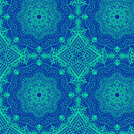 FlowerNet fabric by tallulahdahling on Spoonflower - custom fabric