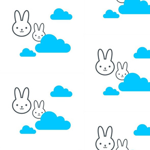 rabbit blue sky