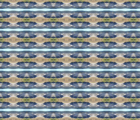 Plundered Earth and Blue Sky Ribbons(Ref. 0404) fabric by rhondadesigns on Spoonflower - custom fabric